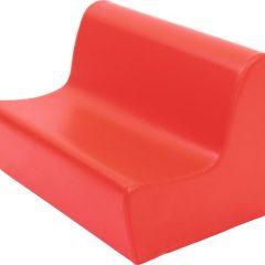 Minkšta sofa, oranžinė, 20 cm aukščio