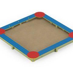 Kvadratinė smėlio dėžė HDPE