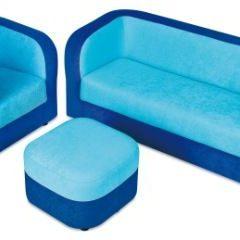 Minkšta sofa – mėlyna
