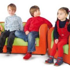 Minkšta sofa – oranžinė