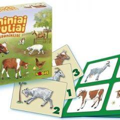 """Stalo žaidimas """"Naminiai gyvuliai ir jų jaunikliai"""""""