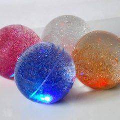 Sensorinių blizgančių kamuoliukų rinkinys, 4 vnt