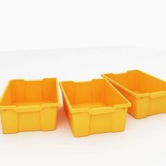 3 plačių daiktadėžių komplektas
