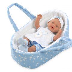 Arias kūdikėlis su nešykle, žydra