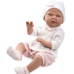 IŠPARDUOTA- Kūdikėlis su trumpomis rožinėmis kelnaitėmis, 52 cm