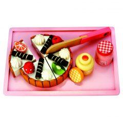 Medinis gimtadienio tortas su priedais