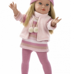 Lėlytė Karla, rožiniais drabužėliais