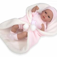 Kūdikėlis rožiniais drabužėliais su pleduku