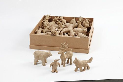 4 poliarinių gyvūnų figūrėlės dekoravimui