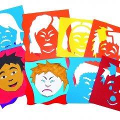 Emocijų trafaretai-kaukės