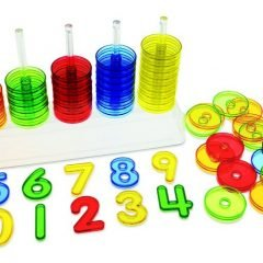 Skaidrus rankinis skaičiuotuvas skaičių rūšiavimui