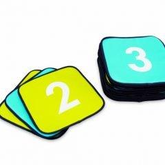 Minkšti kvadratiniai kilimėliai su skaičiais