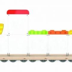 Magnetinė sieninė lenta Traukinukas