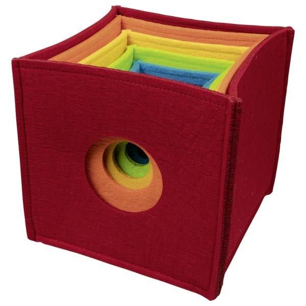 Minkšti kubeliai spalvų ir dydžių suvokimui