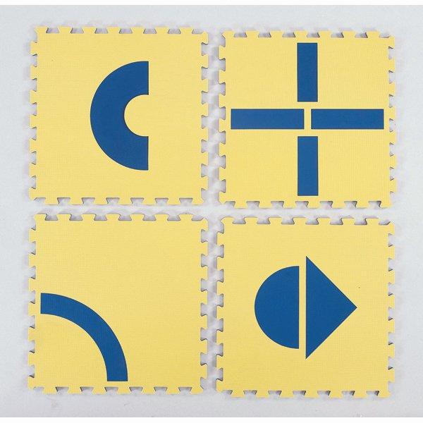 Judėjimo kryptį nurodantys kilimėliai/ 12 vnt.