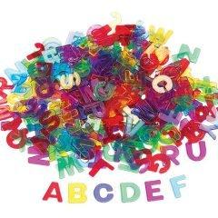Skaidrios plastikinės raidės, rinkinys klasei