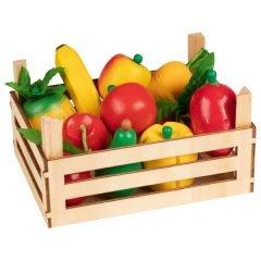 Vaisiai ir daržovės dėžutėje