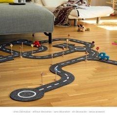 Grindinio kelio takas su 2 transporto priemonėmis