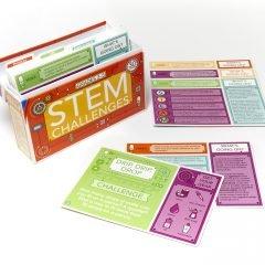 STEM įššūkių kortelės su užduotimis