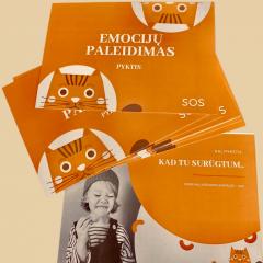 Emocijų paleidimo kortelės su lietuviškais keiksmažodžiais vaikams- Pyktis